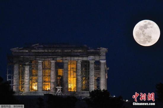 资料图:位于希腊首都雅典的帕台农神庙。