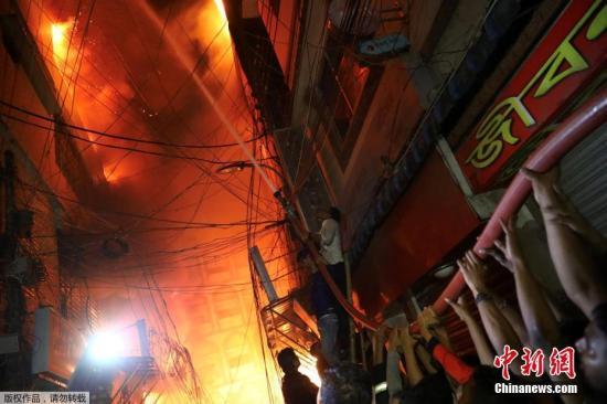 孟加拉国首都火灾导致81人丧生现场救援工作已停止