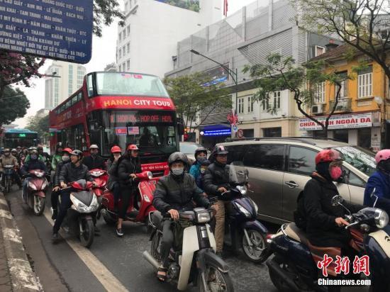 资料图:越南河内街头。 中新网记者 孟湘君 摄