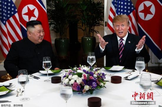 当地时间2月27日,第二次朝美首脑会晤在越南河内索菲特传奇大都会?#39057;?#20030;?#23567;?#22270;为会晤后,两人共进晚餐。