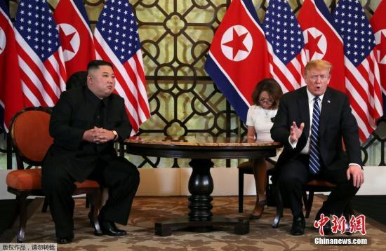 """韩媒称,在会谈开始前,金正恩称将力促朝美对话取得良好成果。特朗普则表示,与金正恩的对话""""定能取得成功""""。"""