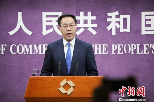 中国商务部新闻发言人高峰。(资料图)中新社记者 赵隽 摄