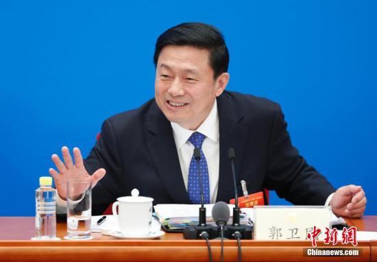 3月2日,全国政协十三届二次会议新闻发布会在北京人民大会堂举行,大会新闻发言人郭卫民介绍本次大会有关情况并回答中外记者提问。 <a target='_blank' href='http://www.tlvih.tw/'>中新社</a>记者 杜洋 摄