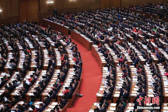 3月5日,十三届全国人大二次会议在北京人民大会堂开幕。<a target='_blank' href='http://www.chinanews.com/'>中新社</a>记者 杜洋 摄