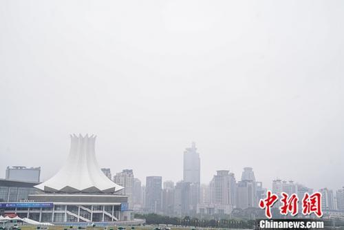 中国—东盟博览会会址——南宁国际会展中心。中新社记者 陈冠言 摄