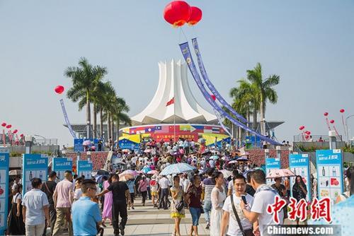 图为第十五届中国—东盟博览会场景。中新社记者 陈冠言 摄