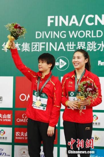 世界跳水系列赛北京站:曹缘成三金王 施廷懋爆冷摘银