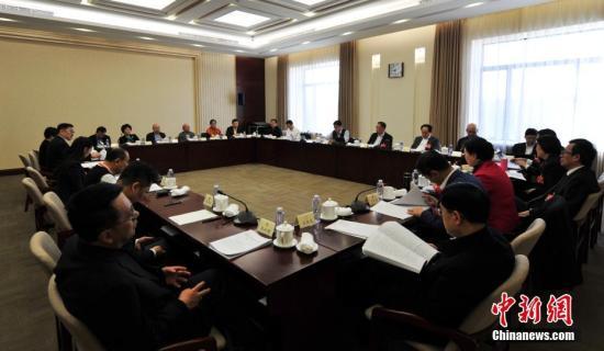 3月7日,全国政协十三届二次会议中华全国归国华侨联合会界别举行小组会议,讨论政府计划报告和预算报告。中新社记者 于海洋 摄