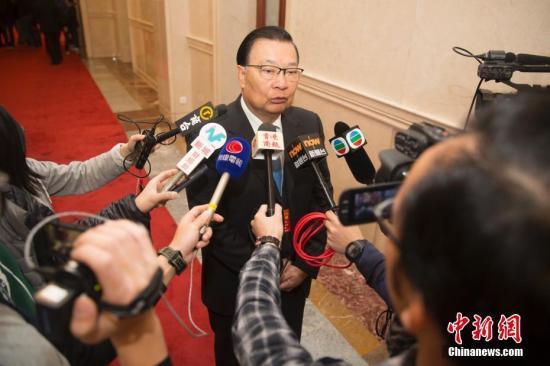 资料图:第十三届全国人大常委会委员、香港民建联会务顾问谭耀宗。<a target='_blank' href='http://xhme8.com/'>中新社</a>记者 王骏 摄