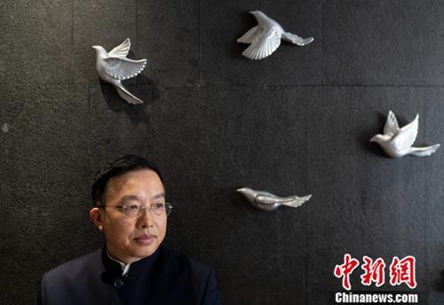 3月11日,全国政协十三届二次会议期间,朱征夫委员接受记者专访。记者 崔楠 摄