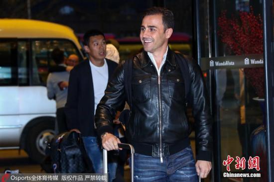 卡纳瓦罗现已飞抵南宁与球队汇合。图片来源:Osports全体育图片社
