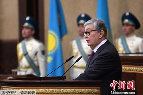 資料圖:哈薩克斯坦總統托卡耶夫。