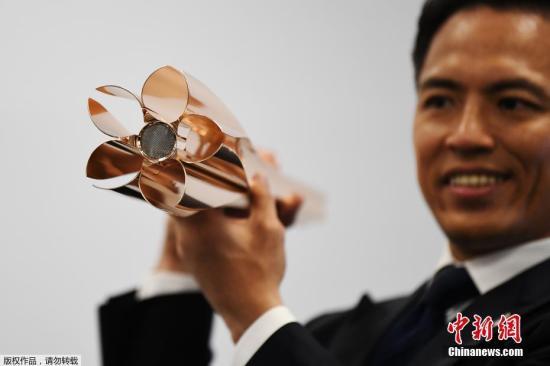 材料图:日本东奥组委发表2020年东奥运会火把式样。