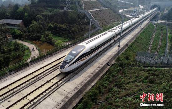 资料图:高铁列车。 <a target='_blank' href='http://www.chinanews.com/'>中新社</a>记者 刘忠俊 摄