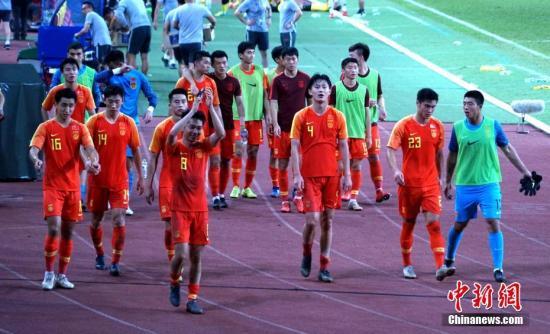 资料图:中国U23国奥队。 <a target='_blank' href='http://www.chinanews.com/'>中新社</a>记者 陈悦 摄