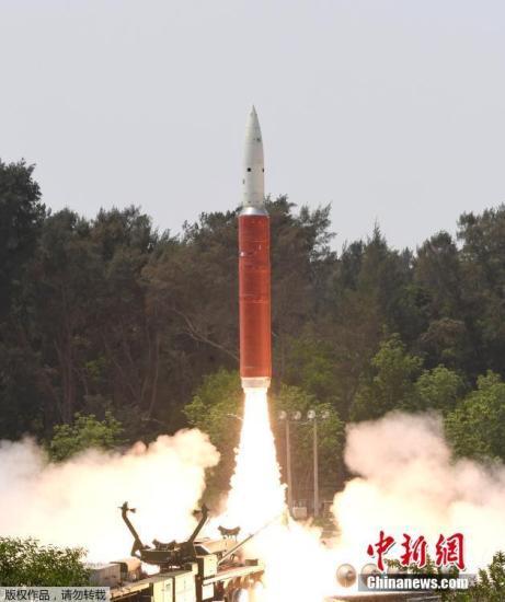 质料图:本地工夫3月27日,印度成功试射一枚反卫星导弹,并在三分钟后成功命中一颗卫星。