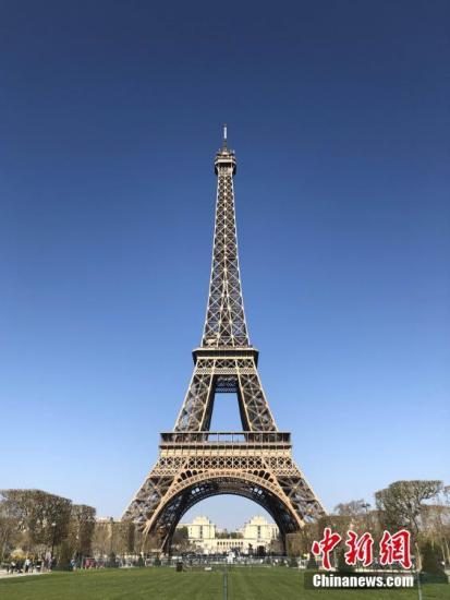 资料图:法国埃菲尔铁塔。/p中新社记者 李洋 摄