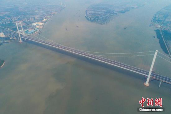 图为虎门二桥项目大沙水道桥。<a target='_blank' href='http://www.chinanews.com/'>中新社</a>记者 陈骥�F 摄