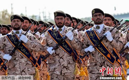 资料图:伊朗伊斯兰革命卫队。
