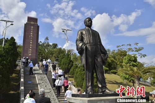 资料图为陈嘉庚塑像。<a target='_blank' href='http://www.chinanews.com/'>中新社</a>记者 刘冉阳 摄