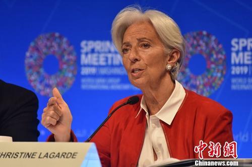 当地时间4月11日, 网投APP货币基金组织(IMF)总裁拉加德在世界银行和IMF春季会议上召开记者会。<a target='_blank' href='http://alien1111.com/'>中新社</a>记者 沙晗汀 摄