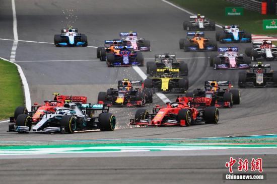 资料图:F1比赛中。 殷立勤 摄