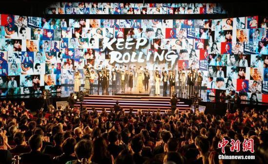 资料图:4月14日晚,第38届香港电影金像奖颁奖典礼在香港文化中心大剧院举行。<a target='_blank' href='http://imozar.com/'>中新社</a>记者 张炜 摄