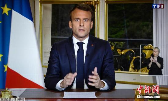材料图:法国总统马克龙。