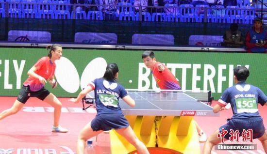 布達佩斯世乒賽:樊振東/丁寧混雙首秀輕松過關