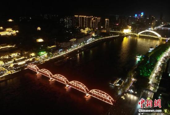 原料图:甘肃兰州夜景。 中新社记者 杨艳敏 摄