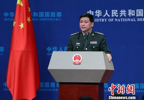 資料圖:國防部新聞發言人任國強。中新社記者 宋吉河 攝