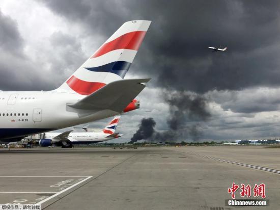 材料图:英国希斯罗机场。