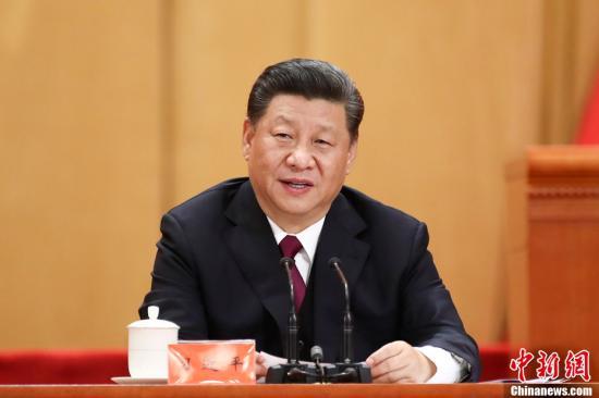 4月30日,纪念五四运动100周年大会在北京人民大会堂隆重举行。中共中央总书记、国家主席、中央军委主席习****在大会上发表重要讲话。中新社记者 盛佳鹏 摄
