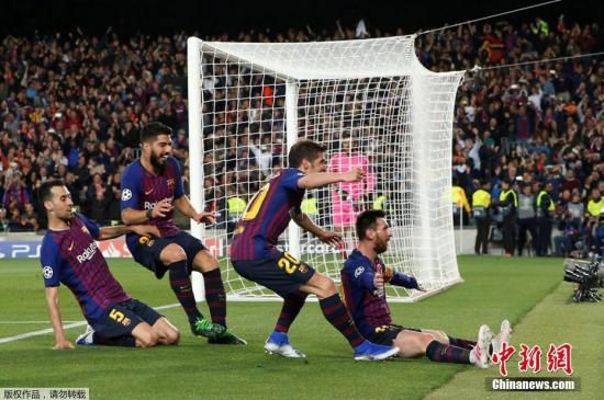 5月2日消息,欧冠半决赛首回合较量中,巴塞罗那坐镇主场诺坎普以3:0击败利物浦,一只脚已经迈入了决赛大门。