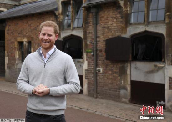 资料图:英国哈里王子。