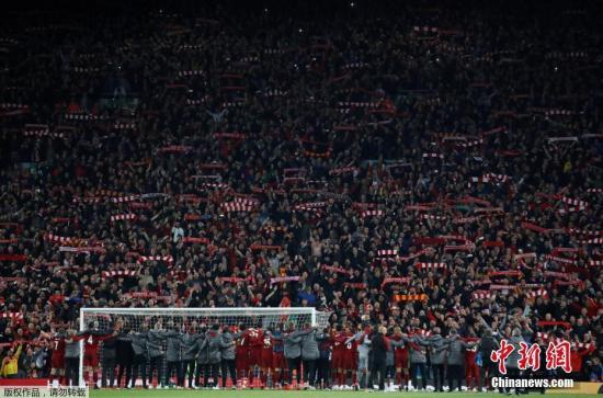 材料图:正在主场四球顺转巴萨缔造安菲我德奇观以后,利物浦连第两年突入欧冠赛。