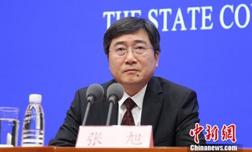 5月9日,国务院新闻办在北京举行新闻发布会,文化和旅游部副部长张旭介绍亚洲文明对话大会有关情况。中新社记者 杨可佳 摄