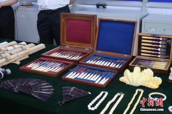Qingdao customs seize 171 ivory products