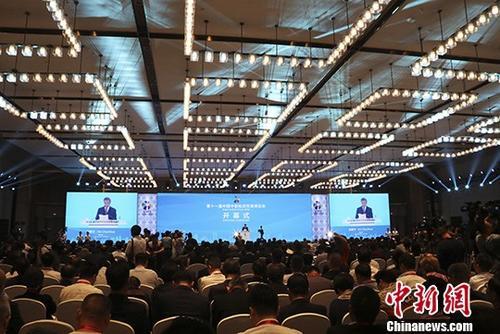 5月18日,第十一届中国中部投资贸易博览会在江西南昌开幕,来自全球50多个国家和地区的6000多名政商学各界人士参会。中新社记者 刘占昆 摄