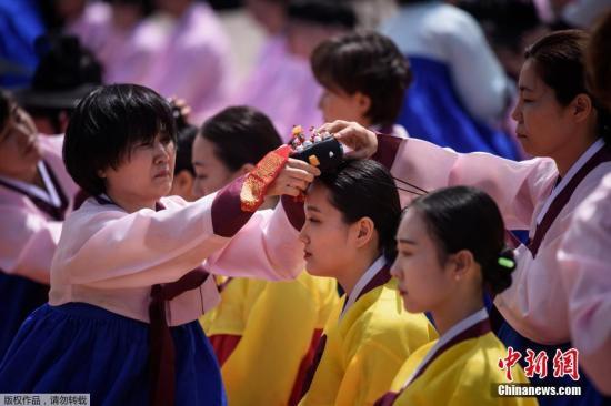 资料图:韩国青年人。