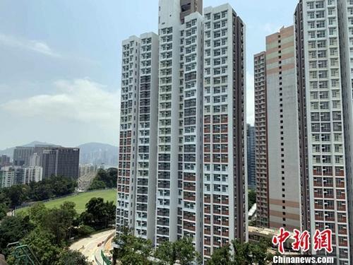 材料图:香港居屋。记者 李志华 摄