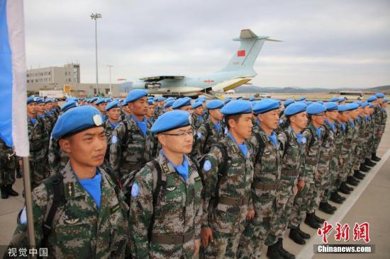 资料图:中国第18批赴黎巴嫩维和部队。图片来源:视觉中国