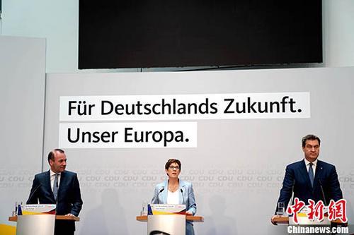 外媒:默克尔属意接班人卡伦鲍尔或放弃2021大选