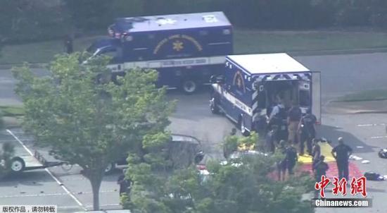 枪击事件发生在该地市政中心2号楼,警方认为只有一名枪手。