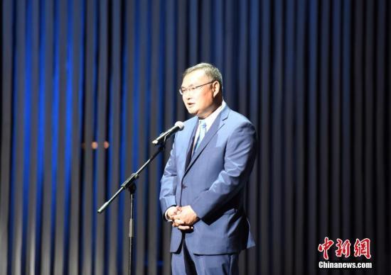 资料图片:中国驻洛杉矶总领事张平。中新社记者 张朔 摄