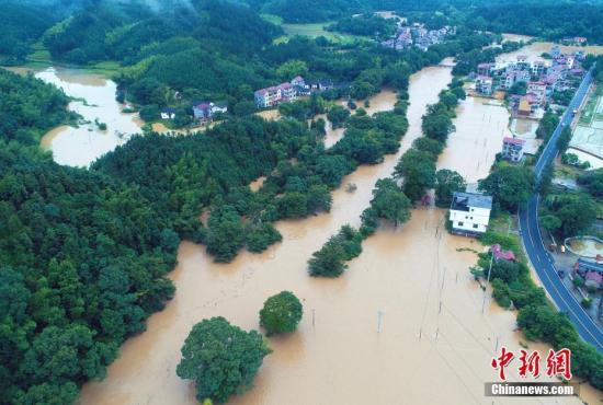 原料图:江西泰和全县,受灾情况。邓和平 摄
