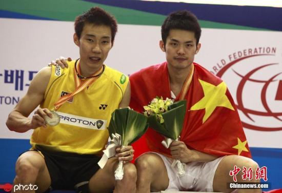 资料图:李宗伟与林丹。 图片来源:ICphoto