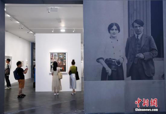 資料圖:畢加索作品展覽。中新社記者 卞正鋒 攝