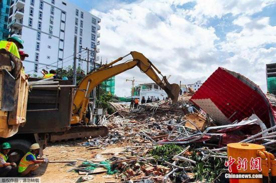 柬埔寨西哈努克省政府及警方当地时间6月22日证实,该省西哈努克市一栋正在建设的七层建筑当天早晨突然坍塌,已造成3人死亡,19人受伤。