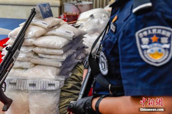 资料图:缴获的毒品。 中新社记者 陈骥旻 摄